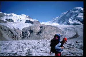 Rich Pedersen crossing the glacier